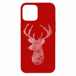 Чохол для iPhone 12 Pro Max Imprint of human skin in the form of a deer