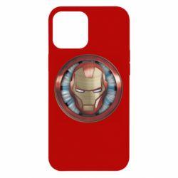 Чохол для iPhone 12 Pro Max Iron man helmet wood texture
