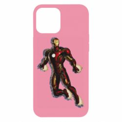 Чехол для iPhone 12 Pro Max Iron man with the shadow of the lines