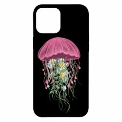 Чехол для iPhone 12 Pro Max Jellyfish and flowers