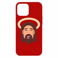 Чехол для iPhone 12 Pro Max Jesus flat vector