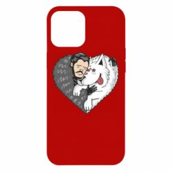 Чохол для iPhone 12 Pro Max John snow and a wolf named ghost