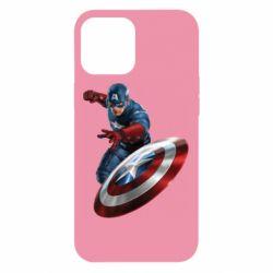 Чехол для iPhone 12 Pro Max Капитан Америка