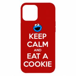Чехол для iPhone 12 Pro Max Keep Calm and Eat a cookie