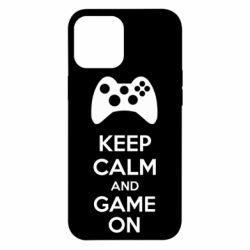 Чехол для iPhone 12 Pro Max KEEP CALM and GAME ON