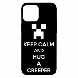 Чехол для iPhone 12 Pro Max KEEP CALM and HUG A CREEPER