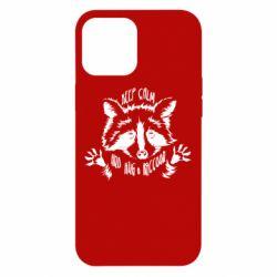 Чохол для iPhone 12 Pro Max Keep calm and hug a raccoon