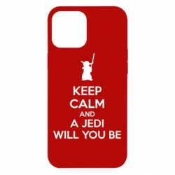 Чехол для iPhone 12 Pro Max KEEP CALM and Jedi will you be