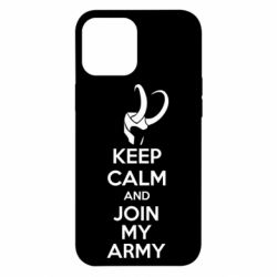 Чехол для iPhone 12 Pro Max KEEP CALM and JOIN MY ARMY