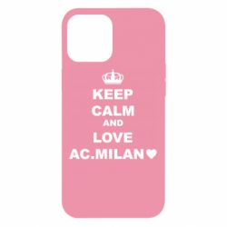 Чохол для iPhone 12 Pro Max Keep calm and love AC Milan