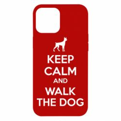 Чохол для iPhone 12 Pro Max KEEP CALM and WALK THE DOG