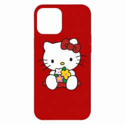 Чехол для iPhone 12 Pro Max Kitty с букетиком