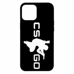 Чехол для iPhone 12 Pro Max Контр Страйк, логотип и игрок