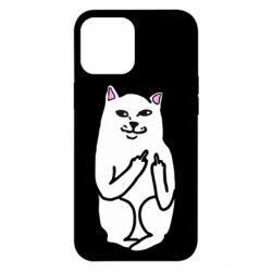 Чехол для iPhone 12 Pro Max Кот с факом