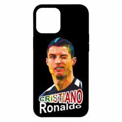 Чохол для iPhone 12 Pro Max Крістіано Роналдо, полігональний портрет