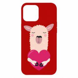 Чохол для iPhone 12 Pro Max Lama with heart