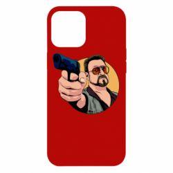 Чохол для iPhone 12 Pro Max Лебовськи з пістолетом
