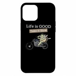 Чохол для iPhone 12 Pro Max Life is good, take it show