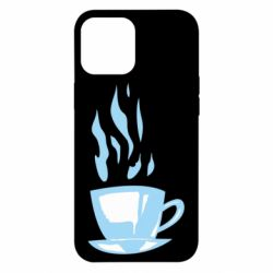 Чехол для iPhone 12 Pro Max Light blue cup of coffee