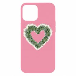 Чехол для iPhone 12 Pro Max Lilies of the valley in the shape of a heart