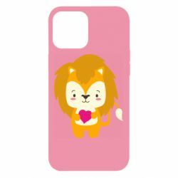 Чехол для iPhone 12 Pro Max Lion and beautiful heart