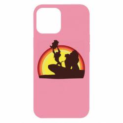 Чехол для iPhone 12 Pro Max Lion king silhouette