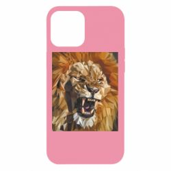 Чохол для iPhone 12 Pro Max Lion roars low poly style
