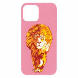 Чохол для iPhone 12 Pro Max Lion yellow and red
