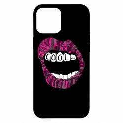 Чохол для iPhone 12 Pro Max Lips with the words cool