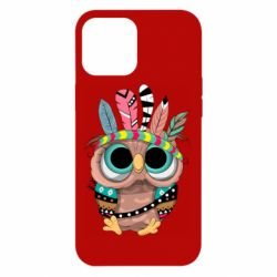 Чохол для iPhone 12 Pro Max Little owl with feathers
