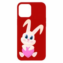 Чехол для iPhone 12 Pro Max Little rabbit with a heart