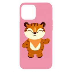 Чехол для iPhone 12 Pro Max Little tiger with a smile