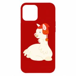 Чехол для iPhone 12 Pro Max Llama in a red hat