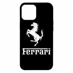 Чехол для iPhone 12 Pro Max логотип Ferrari