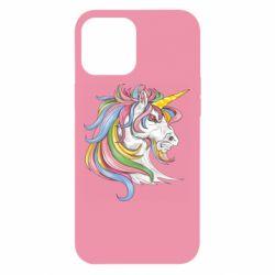 Чохол для iPhone 12 Pro Max Кінь з кольоровою гривою