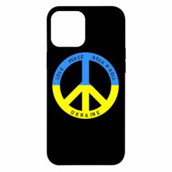 Чехол для iPhone 12 Pro Max Love,peace, rock'n'roll, Ukraine