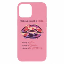Чехол для iPhone 12 Pro Max Make Up Is Not A Mask Lips