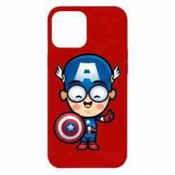 Чехол для iPhone 12 Pro Max Маленький Капитан Америка