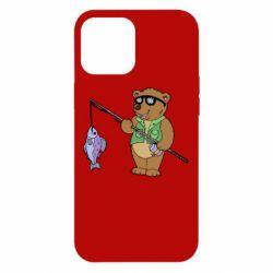 Чохол для iPhone 12 Pro Max Ведмідь ловить рибу