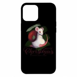 Чехол для iPhone 12 Pro Max Merry Christmas and white mouse