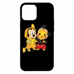 Чехол для iPhone 12 Pro Max Mickey and Pikachu