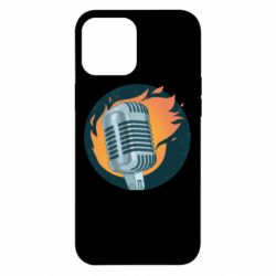 Чехол для iPhone 12 Pro Max Microphone and fire