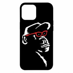 Чохол для iPhone 12 Pro Max Monkey in red glasses