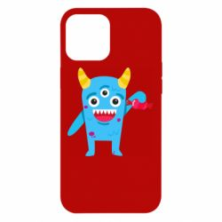Чехол для iPhone 12 Pro Max Monster with a candy