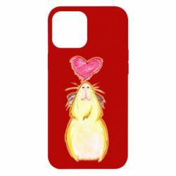 Чохол для iPhone 12 Pro Max Морська свинка і сердечко