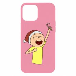 Чехол для iPhone 12 Pro Max Morty with Christmas candy