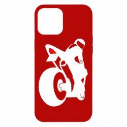 Чехол для iPhone 12 Pro Max Мотоциклист на спорте