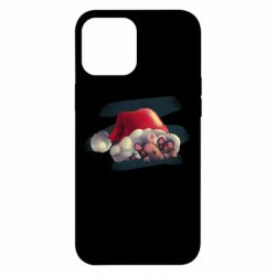 Чехол для iPhone 12 Pro Max Mouses and christmas hat