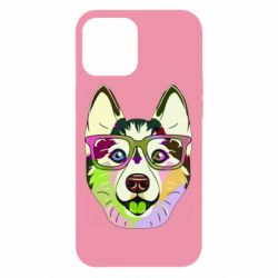 Чохол для iPhone 12 Pro Max Multi-colored dog with glasses