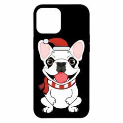 Чехол для iPhone 12 Pro Max New Year's French Bulldog